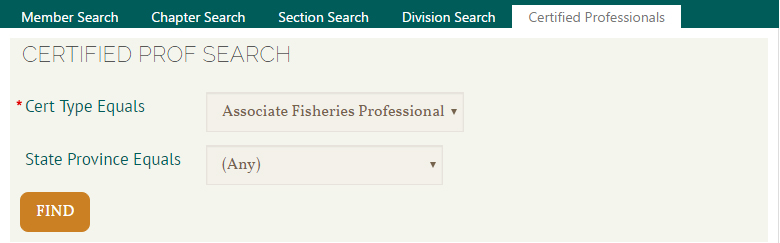 Search for certified professionals in the online membership directory.